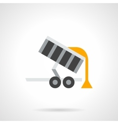 Grain trailer flat color icon vector