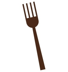 Single fork icon vector