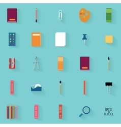 Abstract school objects vector