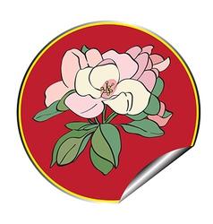 apple flower sticker vector image vector image