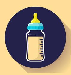 Baby milk bottle icon baby bottle flat vector