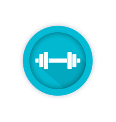 barbell icon round pictogram vector image vector image
