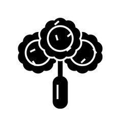 Broccoli - salad icon black vector