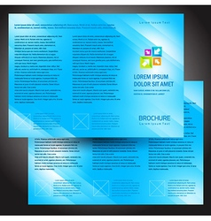 Brochure folder colorful design blue vector