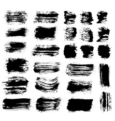 brush strokes set 6 vector image vector image