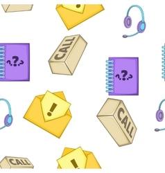 Call center pattern cartoon style vector