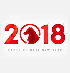 chinese new year 2018 festive map of vector image