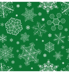 Christmas seamless pattern from snowflakes vector image vector image