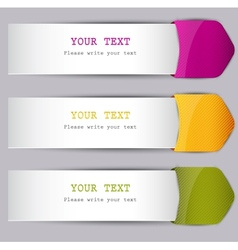 Colorful bookmarks with place for text vector image vector image