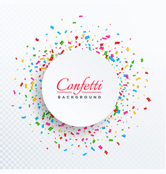 colorful confetti isolated on transparent vector image