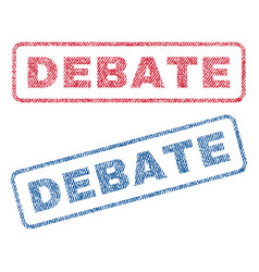 Debate textile stamps vector