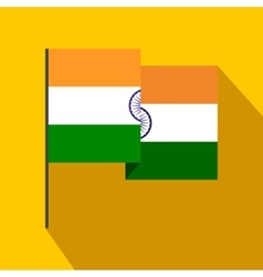 Flag of India icon flat style vector image vector image