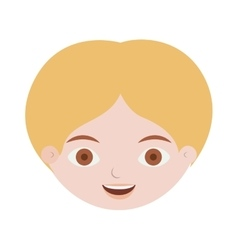 Front face man with blond hair vector