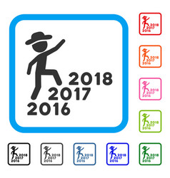 gentleman steps years from 2016 to 2018 framed vector image vector image