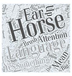 Horse language word cloud concept vector