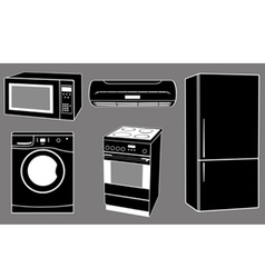 house appliances vector image vector image