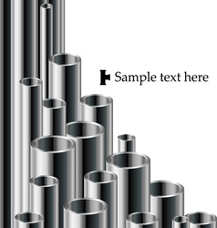 Industrial text background with pipe set vector image