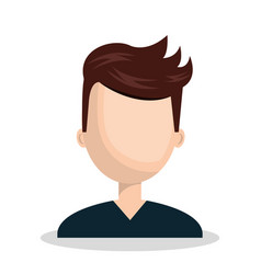 Male character social network concept vector