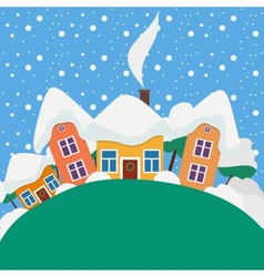 New Year and Christmas landscape in the daytime vector image