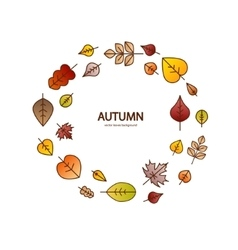 nice modern fall leaves autumn decorative vector image