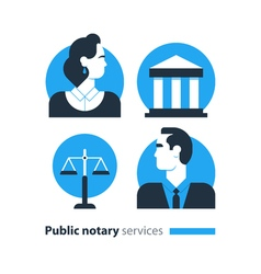 Notary 8 vector