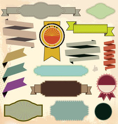 Retro Design elements vector image vector image