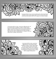 set of card or invitation vector image vector image