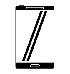 smartphone mobile technology screen pictogram vector image vector image