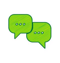 speech bubbles sign lemon scribble icon vector image