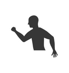 Sport man running fitness icon graphic vector