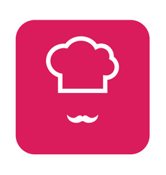 thin line chef hat icon vector image