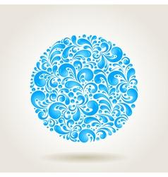 water circle vector image