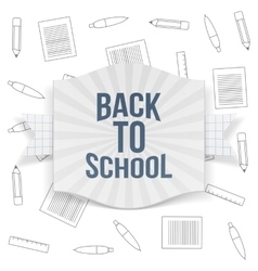 Back to school striped badge vector
