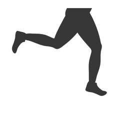 Sport legs shoes running fitness icon vector