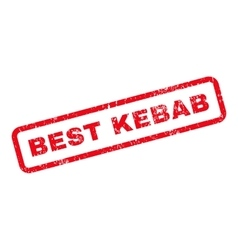 Best kebab text rubber stamp vector