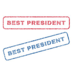 Best president textile stamps vector