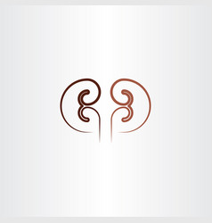 Kidney line icon design element vector