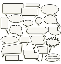 Comic style speech bubbles vector