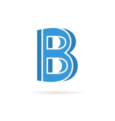 Logo b letter for company design template vector