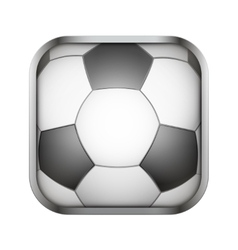 Square icon for football app or games vector image