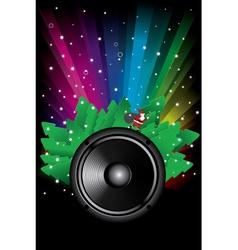 rainbow disco background vector image