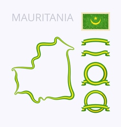 Colors of mauritania vector