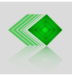 Abstract geometric green triangle pattern vector
