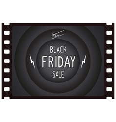 Black friday vintage banner vector