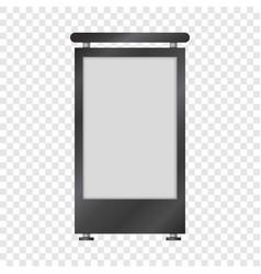 Blank lightbox mockup realistic style vector