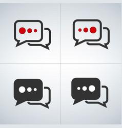 chat bubbles set vector image vector image