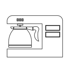 coffeemaker coffee machine black color path icon vector image vector image