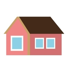 colorful one floor house graphic vector image