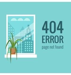 Concept 404 error vector