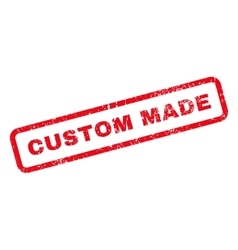 Custom made text rubber stamp vector